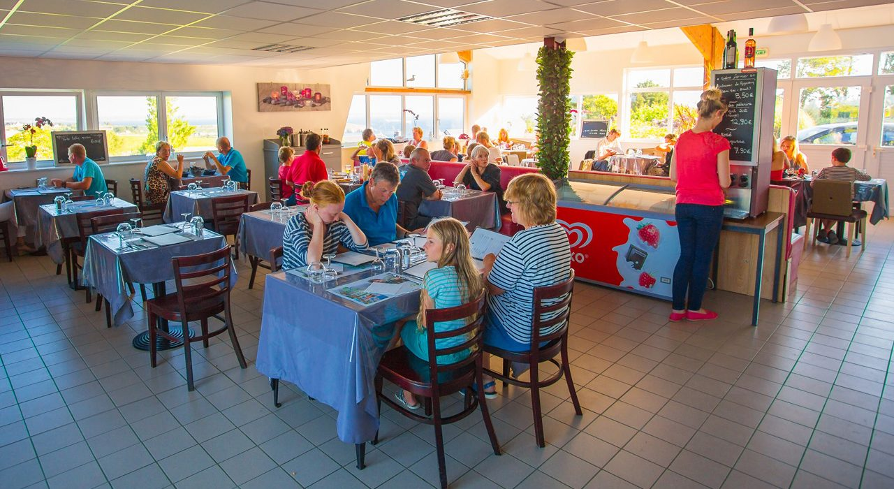 Camping Crozon Le Panoramic Restaurant Vue Mer